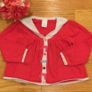 Gymboree Sailor Bow Sweater Cardigan Girls 2T